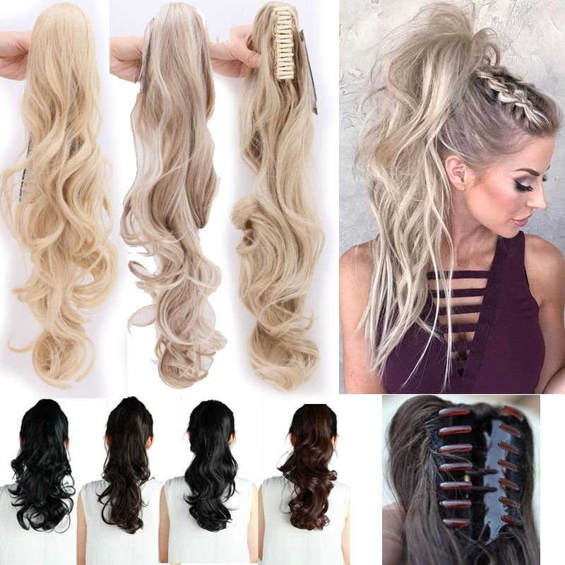 The Best Us Ponytail Clip In Hair Extensions Jaw Claw On Pony Tail Pictures