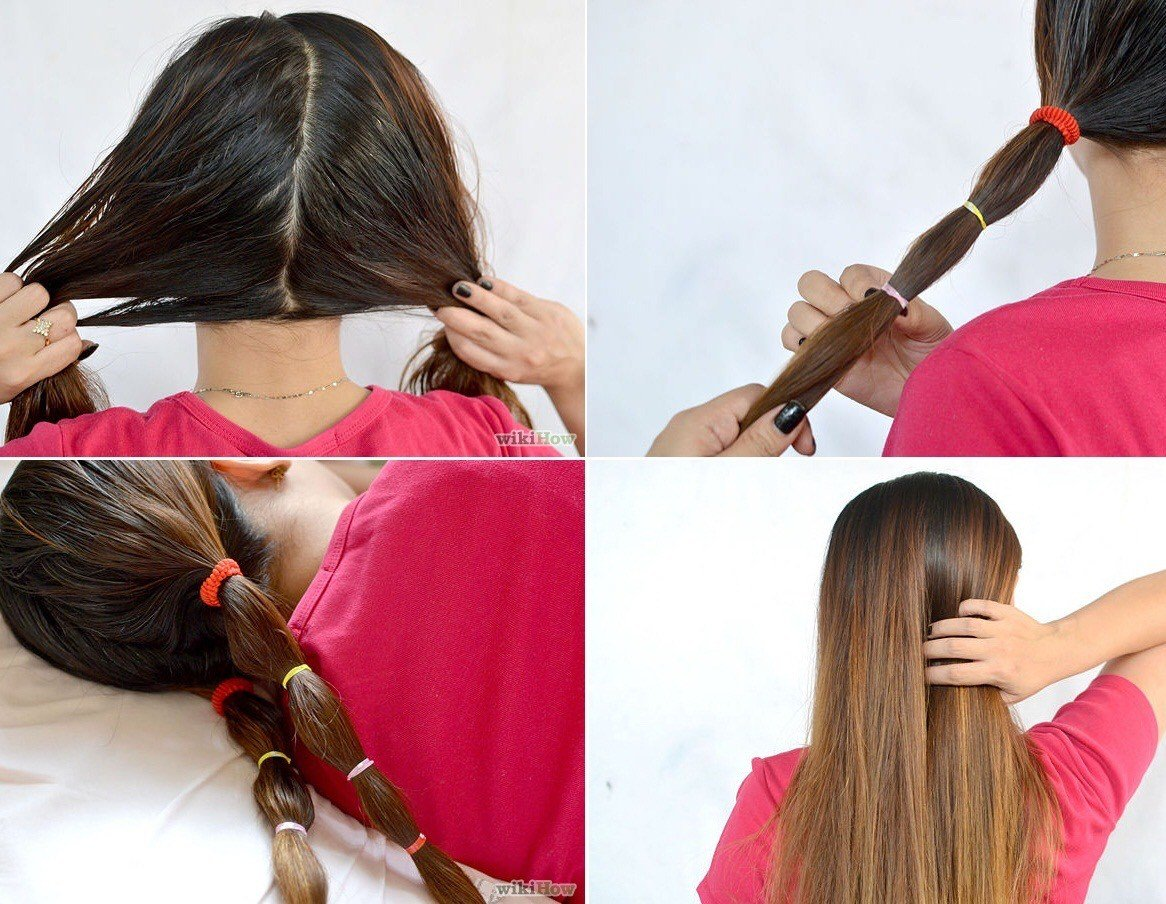The Best Get Heatless Straight Hair Overnight By Ashley H Musely Pictures