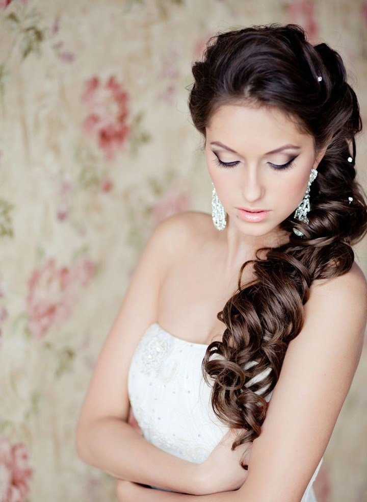 The Best Side Swept Wedding Hairstyles To Inspire Mon Cheri Bridals Pictures