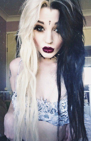 The Best Black And White Hair On Tumblr Pictures