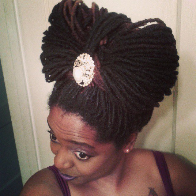 The Best Easy And Gentle Updos For Locs Curls Understood Pictures
