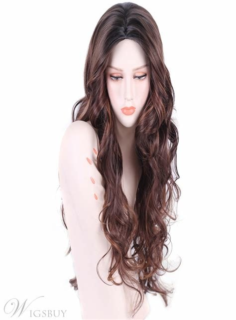 The Best Aisi® Long Wavy Mixed Color Capless Synthetic Hair Wig 28 Pictures
