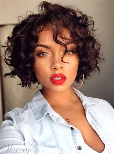 The Best Bob Hairstyle Short Curly Synthetic Hair Capless African Pictures