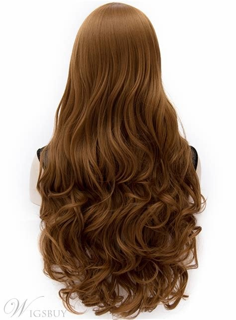 The Best S*Xy Anastasia Rich Brown Long Wavy Wig With Side Swept Pictures