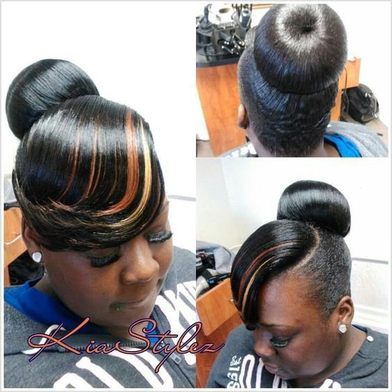 The Best Bun W Tri Feathered Bang Flawless Hair Buns Updo S Pictures