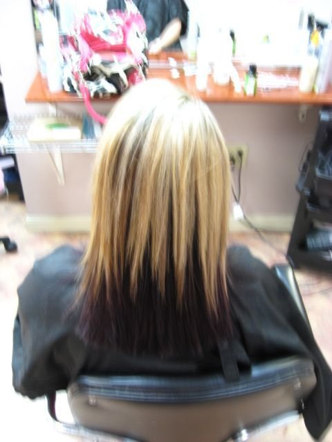 The Best Blonde And Dark Purple Underneath Our Very Own Salon Pictures