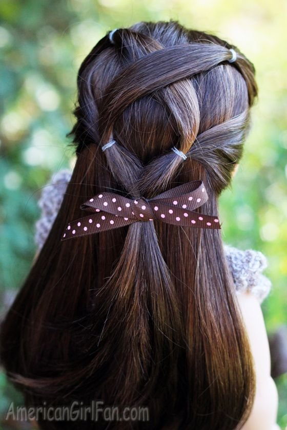 The Best American Girl Doll Criss Cross Ponytail Hairstyle Via Pictures