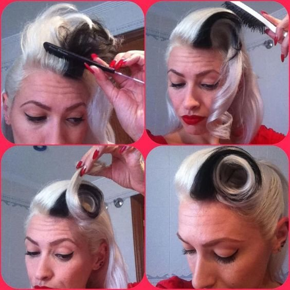 The Best Victory Rolls Step By Step And Pin Up Hair On Pinterest Pictures