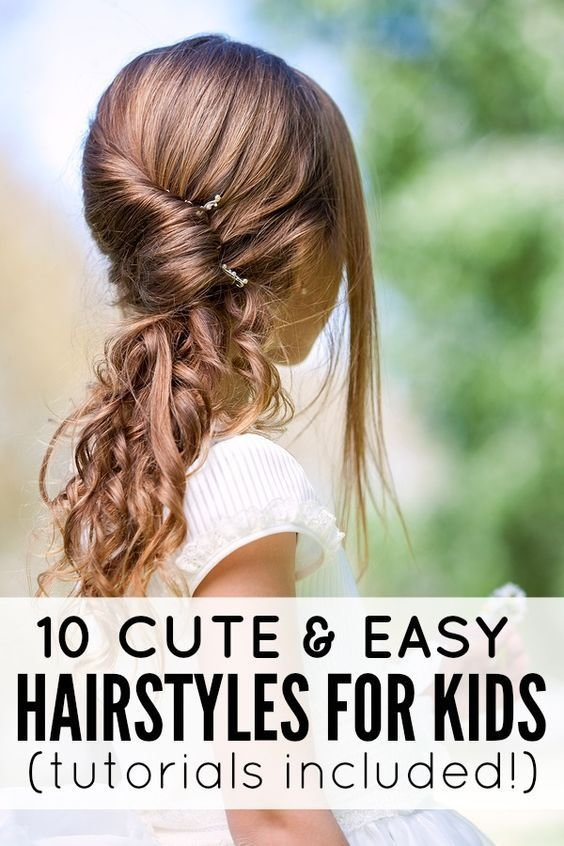 The Best 10 Cute And Easy Hairstyles For Kids Hair Reference For Pictures