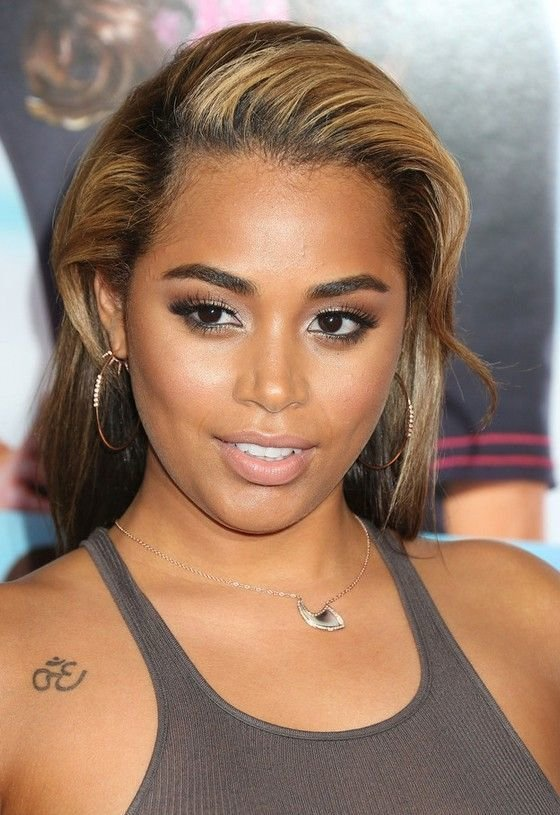 The Best Lauren London Elegnat Teased Long Hairstyle For Black Pictures