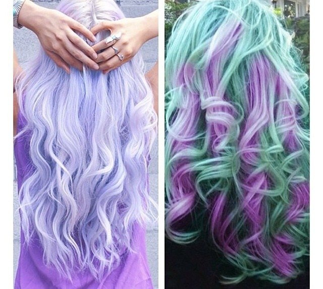 The Best Multi Colored Hair Love The Lavender And Teal Hair Pictures