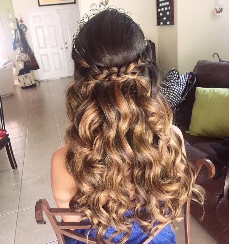 The Best 20 Absolutely Stunning Quinceanera Hairstyles With Crown Pictures