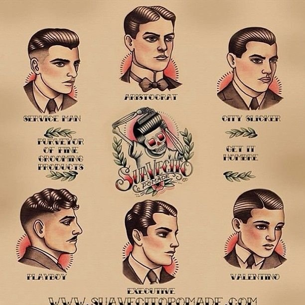 The Best Gentle Men's Haircutting Guide Poster Hair Do S 1920S Pictures