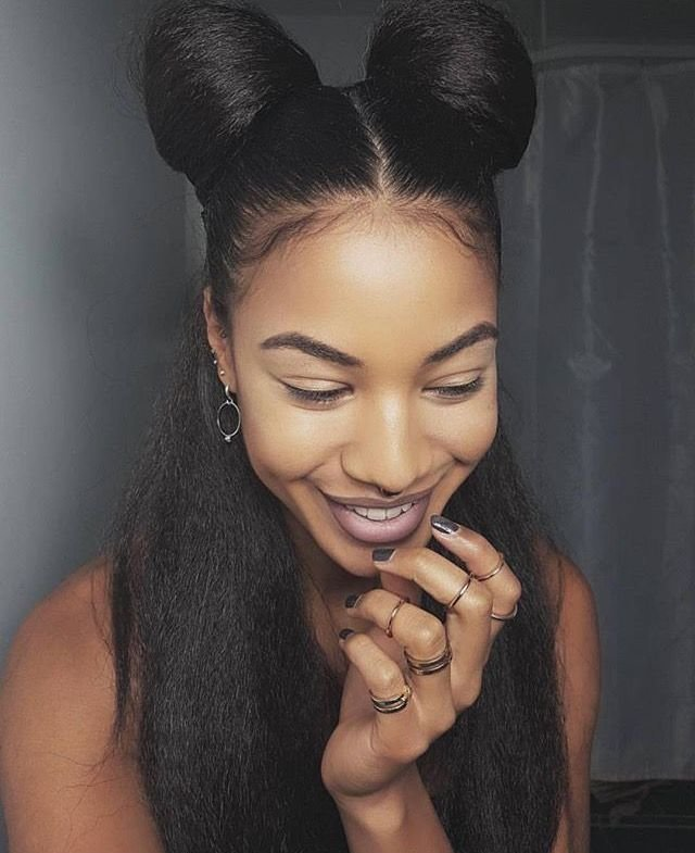 The Best Natural Hair Hairstyles Buns Half Up Hairstyles Pictures