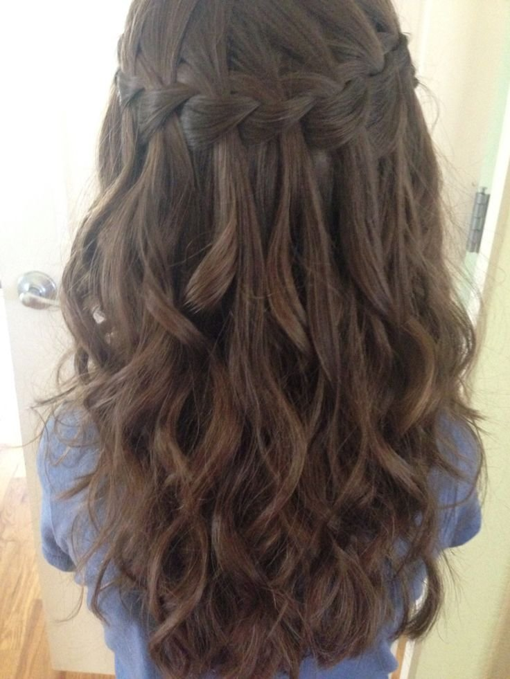 The Best 25 Best Ideas About Waterfall Braid Prom On Pinterest Pictures