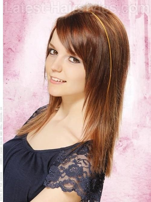 The Best Tapered Straight Hair From Another Angle Bangs Layered Pictures