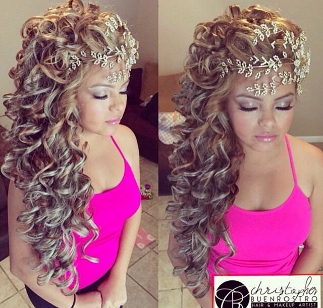 The Best 114 Best Images About Quincianera Hairstyles On Pinterest Pictures