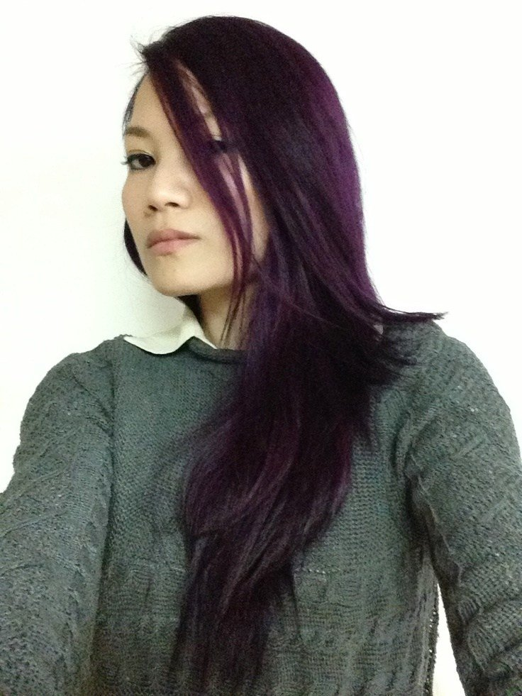 The Best Eggplant Salonfree Hairdye Haircolor Colorhair Pictures