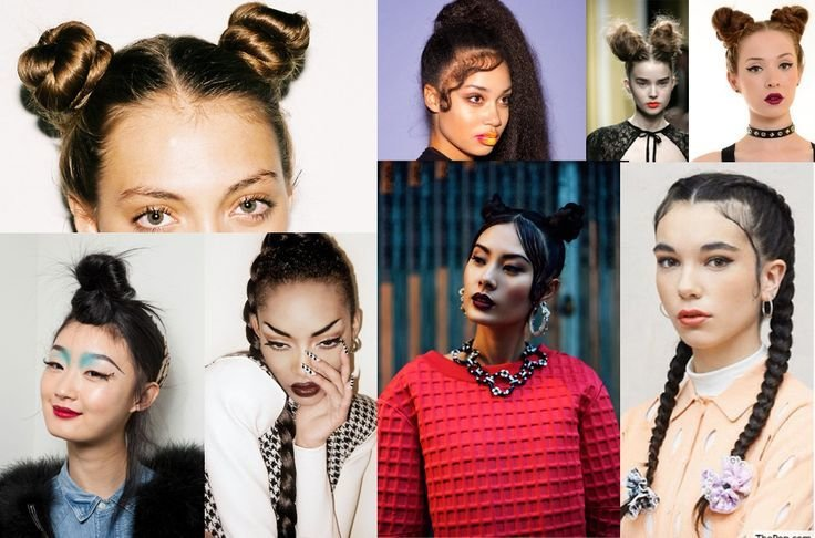 The Best Hair 90S Inspired From The Neck Up Spice Girl Pigtail Buns Baby Hairs And Or Braids Pictures