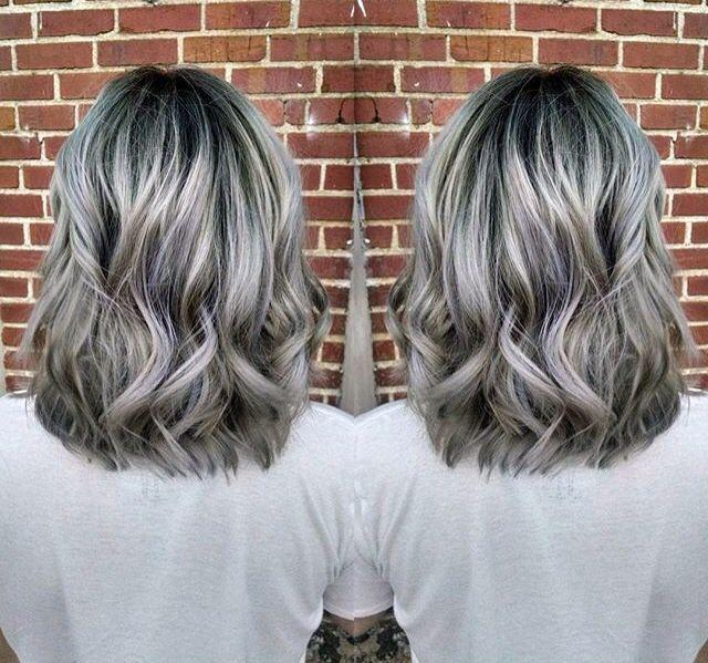 The Best 17 Best Images About Purple Lowlights For Grey Hair On Pictures