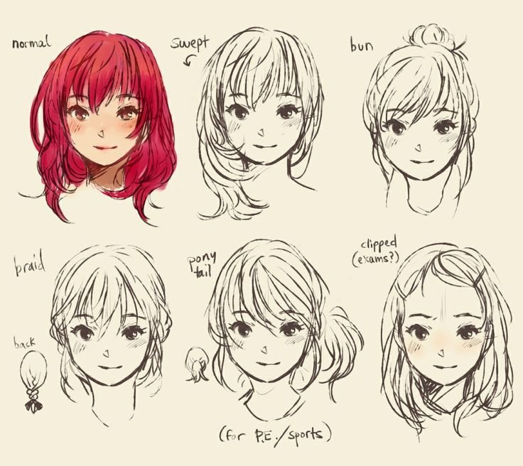 The Best How To Draw Cute Manga Hair Drawing Help Pinterest Pictures