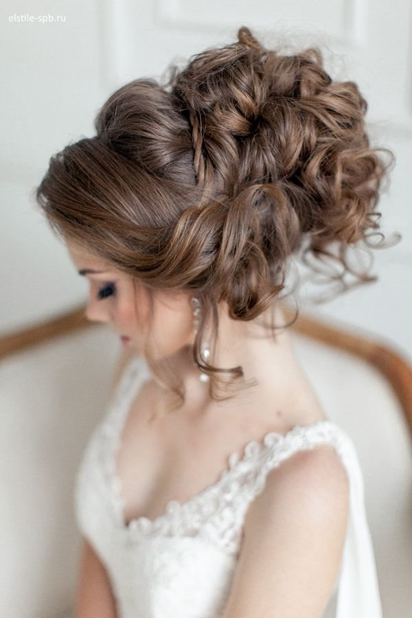 The Best Venician Textured Curls Woven Into A High Messy Bun Pictures