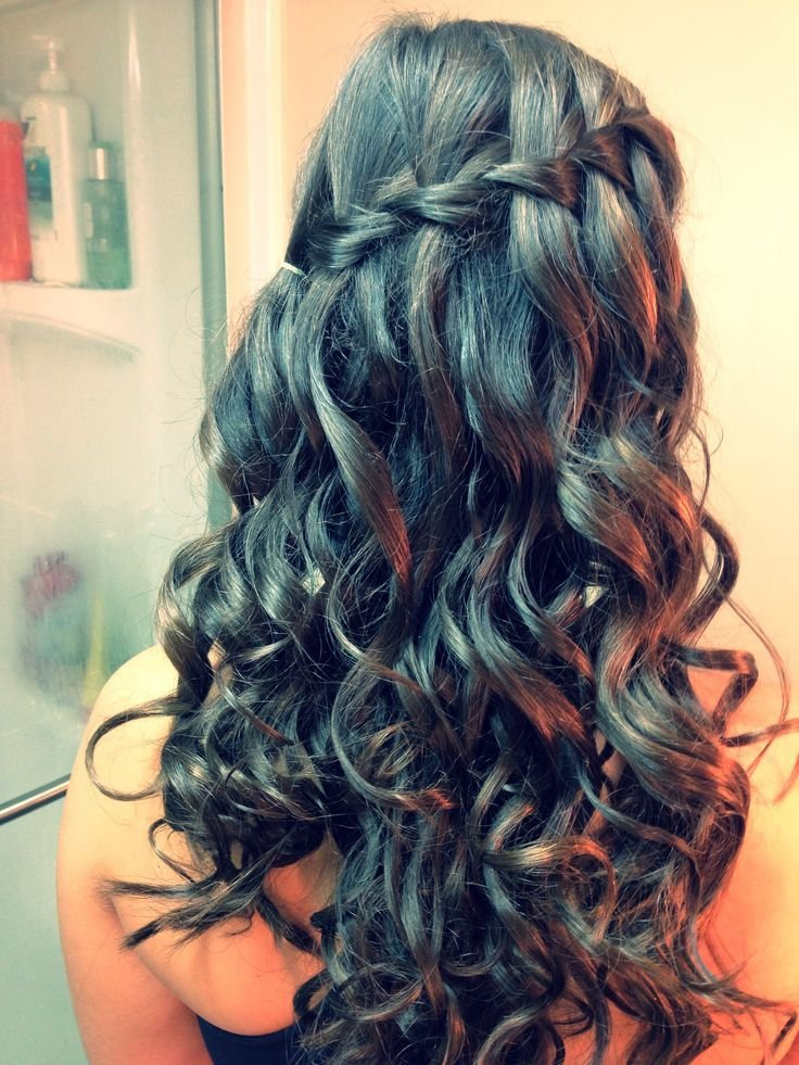 The Best Waterfall Braid With Curls Hair Beauty Pinterest Pictures