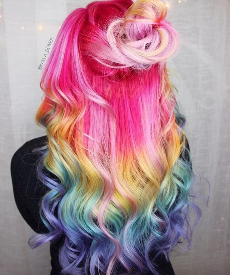The Best 17 Best Images About Multi Color Hair Ideas If I M Brave Pictures