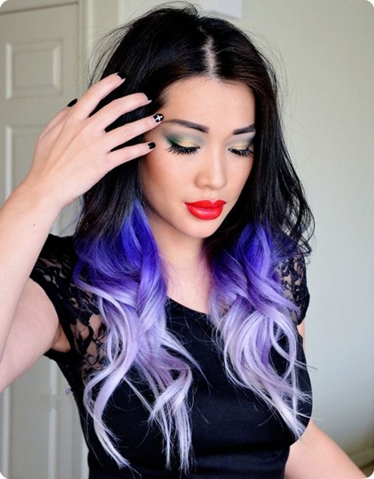 The Best Cool Brown Purple Hair Tumblr Black Hair Color Ideas For Pictures