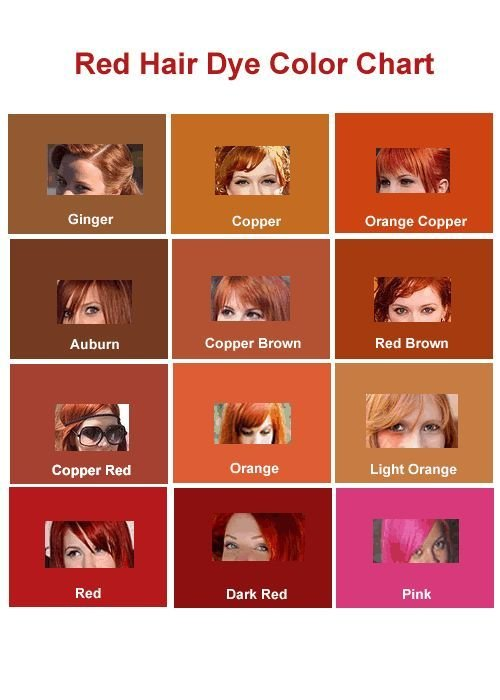 The Best Shades Of Red Types Of Red Hair Hair Pinterest Pictures