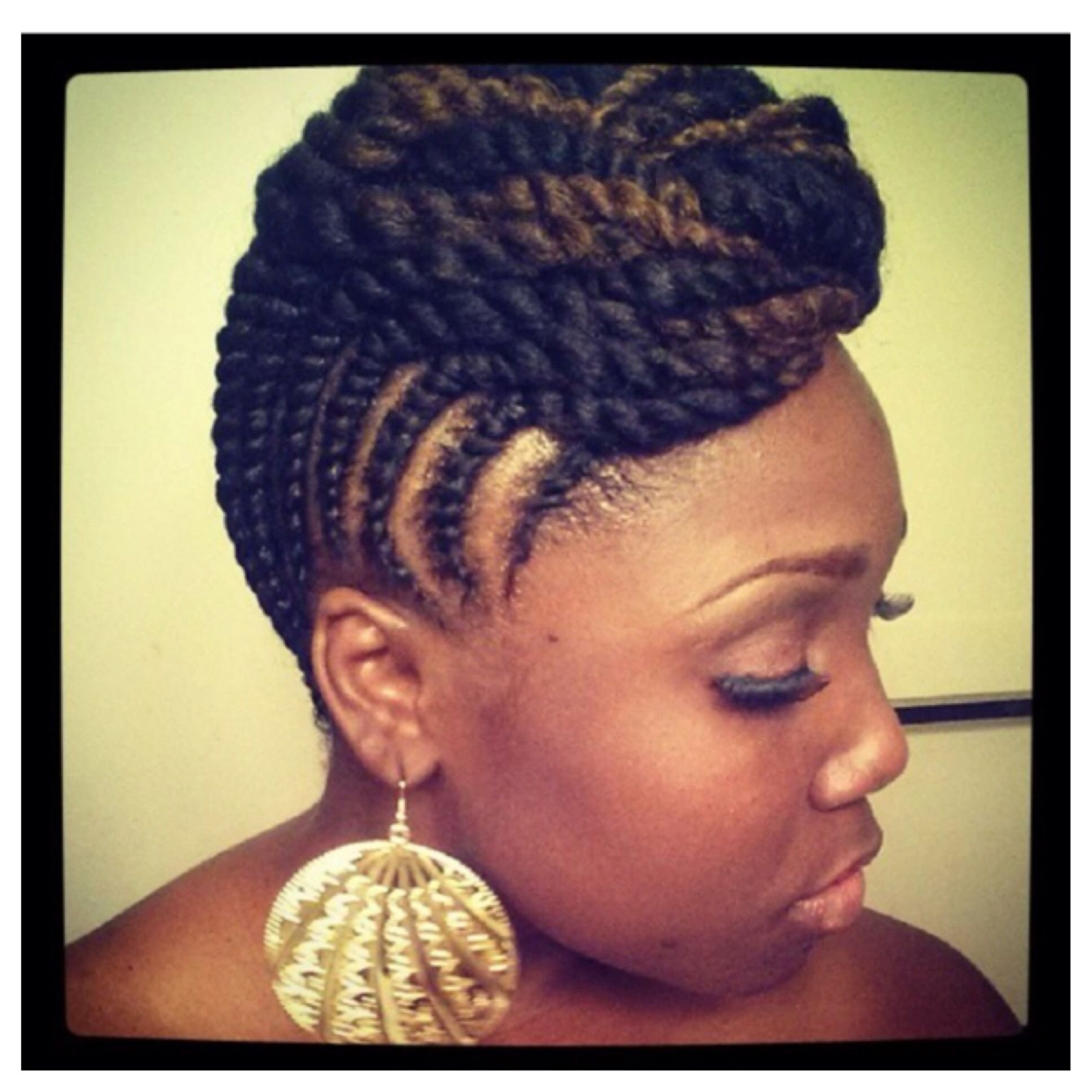 The Best Beautiful Natural Two Strand Twist Updo Natural Hair Pictures
