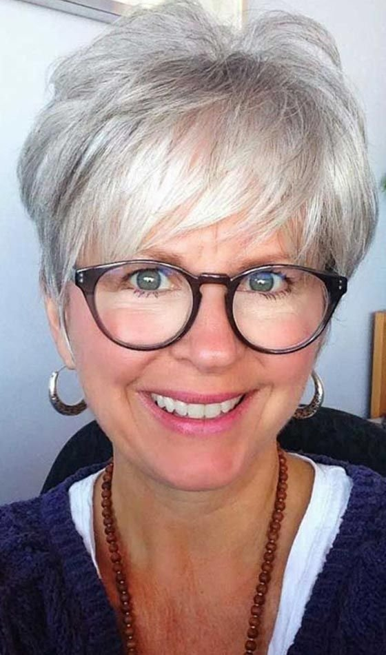 The Best Short Haircuts For Women Over 60 With Glasses Hair Cuts Pictures