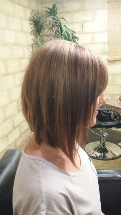 The Best Long Inverted Bob Brown With Caramel Highlights Shoulder Pictures
