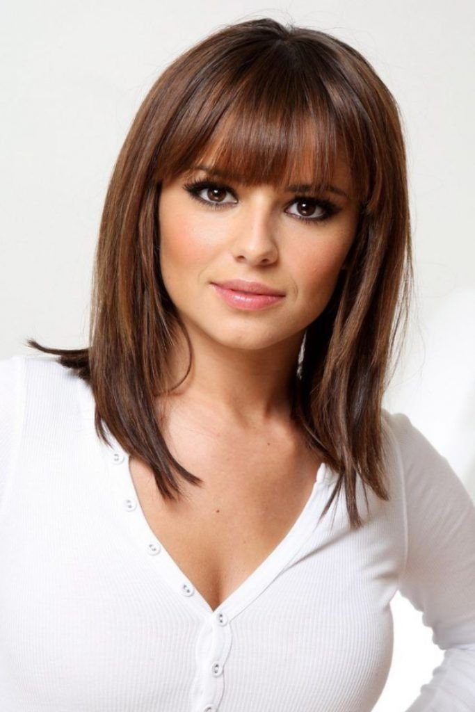 The Best Medium Length Hairstyles With Bangs For Fine Hair Beauty Pictures
