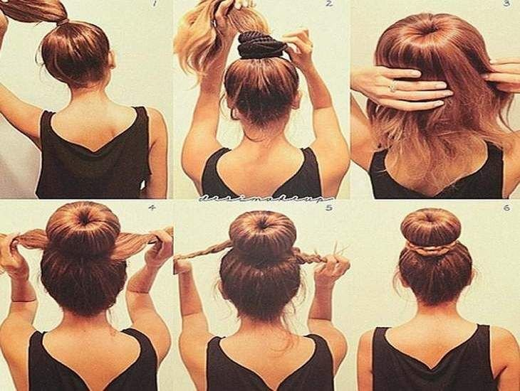 The Best Easy Updos For Medium Length Hair Step By Step Hair Pictures