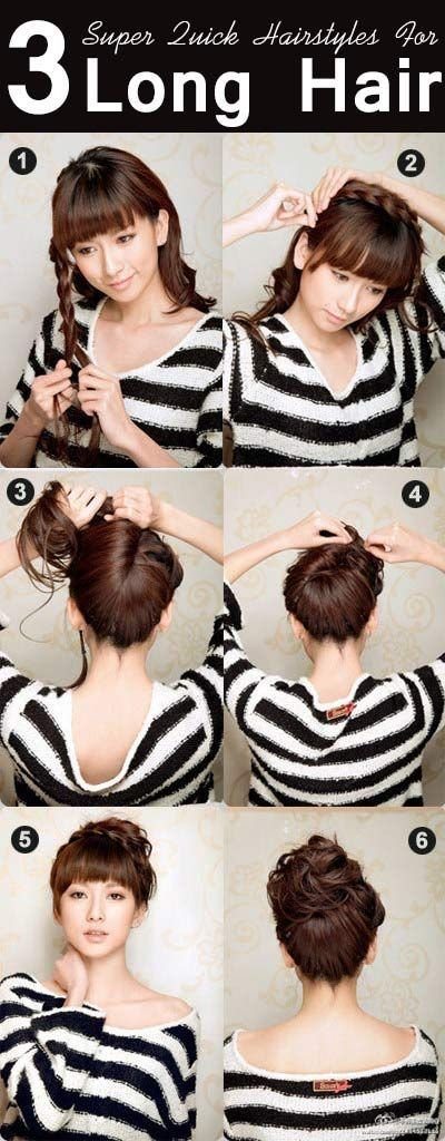 The Best 8 Simple Daily Hairstyles For Long Hair Beauties Quick Pictures