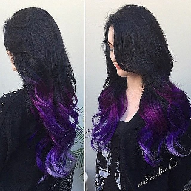 The Best Purple Dip Dye On Pinterest Dip Dye Hair Pink Dip Dye Pictures
