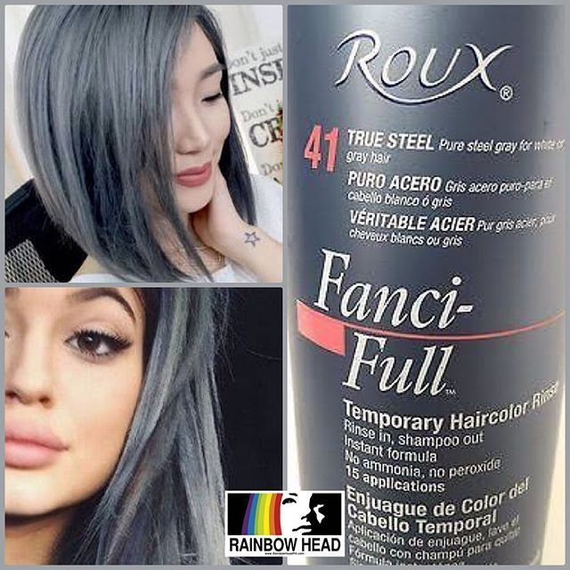 The Best Mulpix Roux Fanci Full Rinse True Steel Temporary Hair Pictures