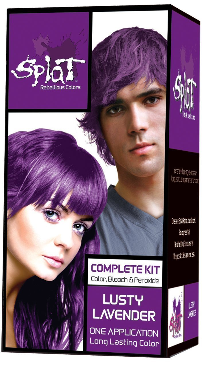 The Best Splat Rebellious Colors Purple Hair Dye Kit L*Sty Lavender Pictures