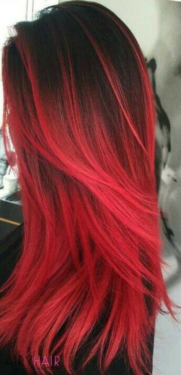 The Best 13 Best Black And Red Ombré Hair Color Ideas Pictures