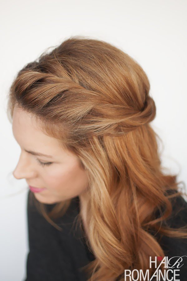 The Best The Twist Back Easy Half Up Hairstyle Tutorial Hair Pictures