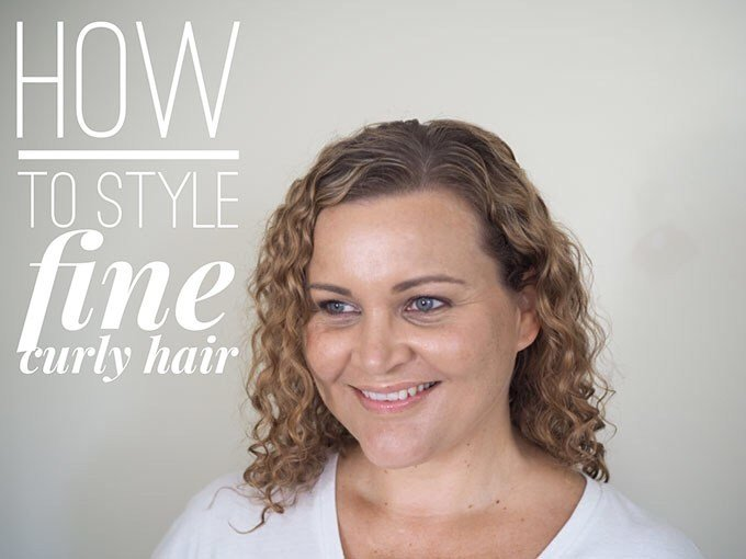 The Best How To Style Fine Curly Hair Hair Romance Pictures