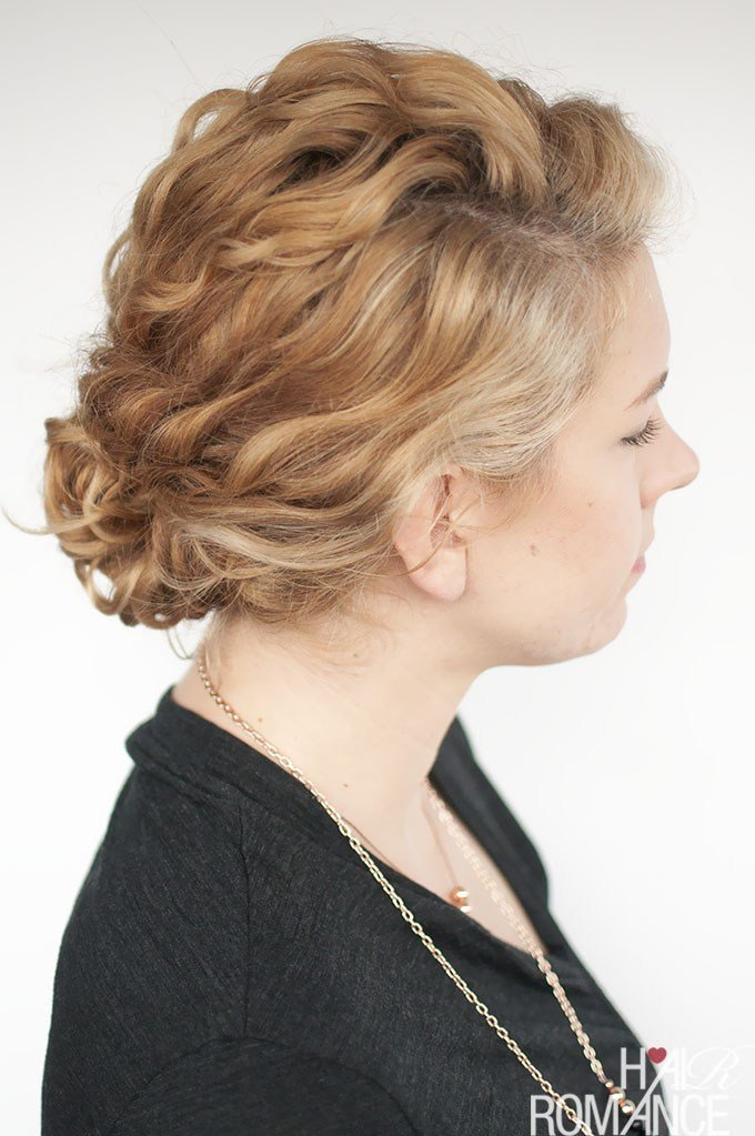 The Best Super Easy Updo Hairstyle Tutorial For Curly Hair Hair Pictures