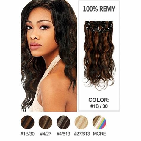 The Best Clip In Extensions Highlight Color 1B 30 Indian V*Rg*N Hair Pictures