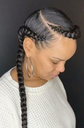 The Best 2 Goddess Braids With Weave New Natural Hairstyles Pictures
