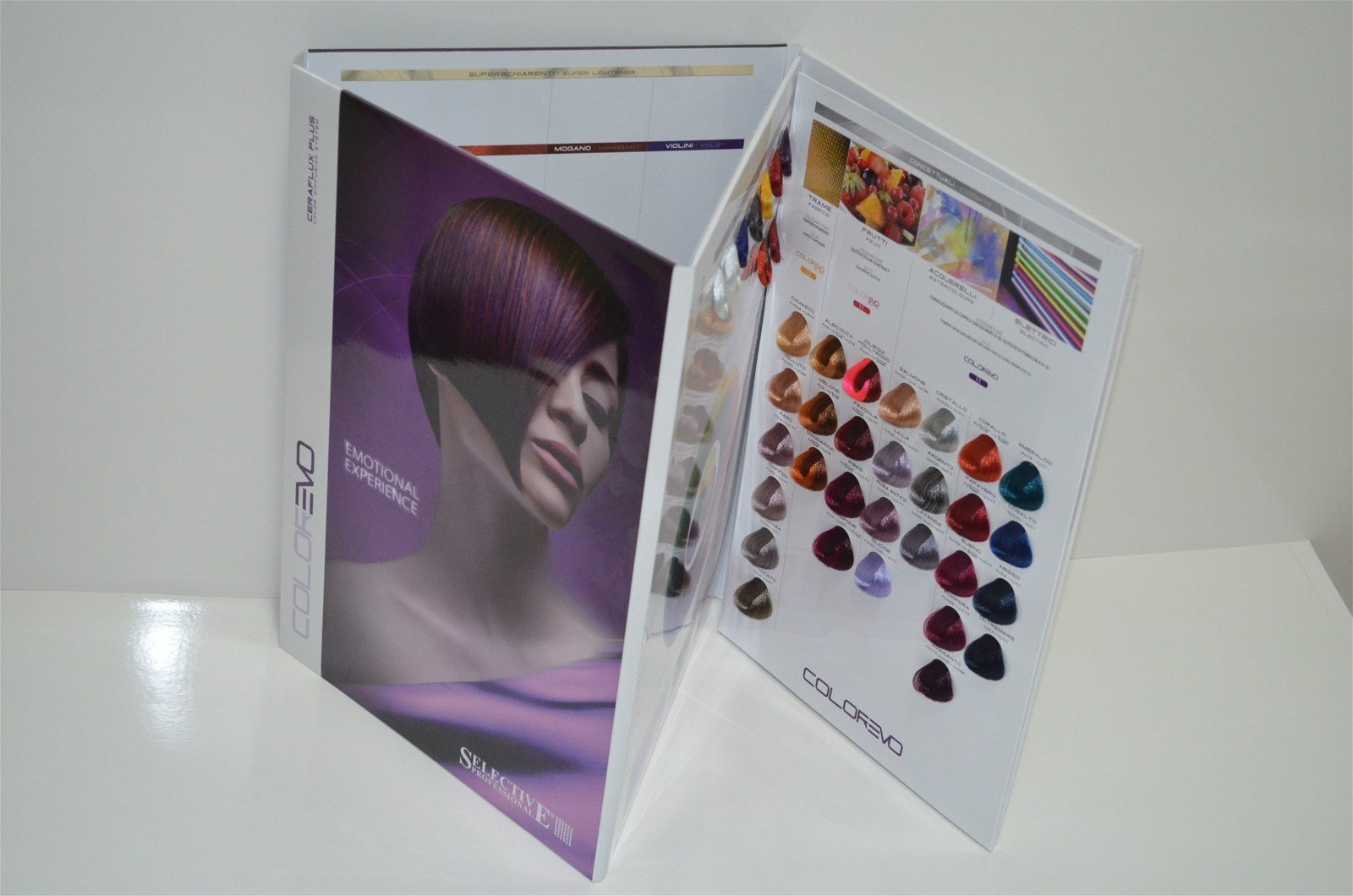 The Best Italy Selective Folded 144 Multi Colors Hair Color Chart Pictures