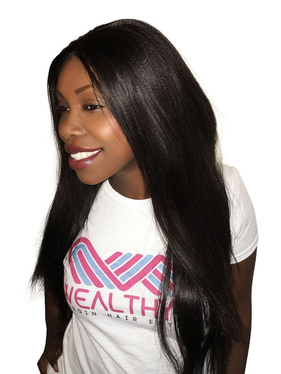 The Best V*Rg*N Remy Sew In Weave Hair Extensions Yaki Relaxed Pictures