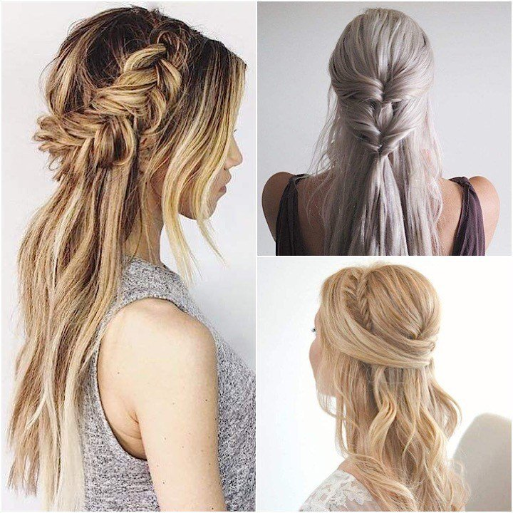 The Best Half Up Half Down Wedding Hairstyles Modwedding Pictures