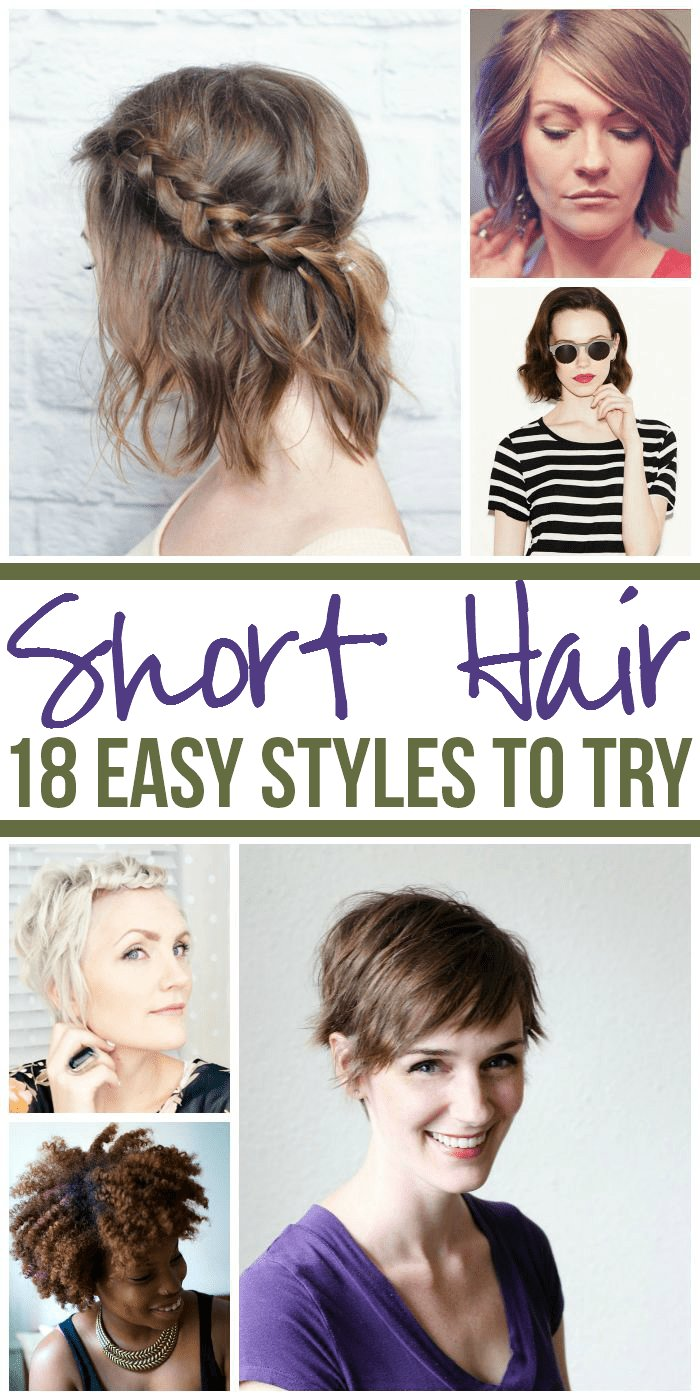 The Best 18 Easy Styles For Short Hair Pictures