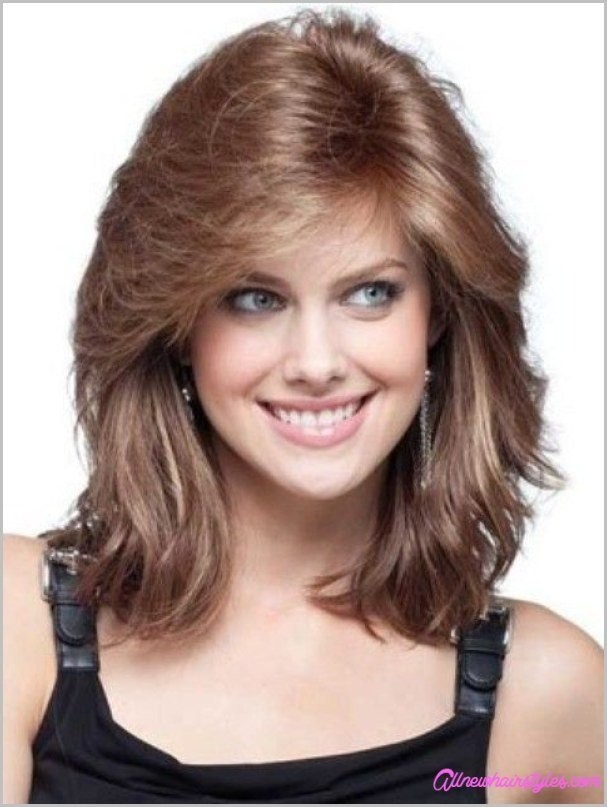 The Best Medium Length Curly Haircuts For Round Faces Allnewhairstyles Com Pictures